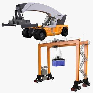 gantry crane reachstacker 3D model