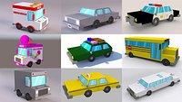 Low Poly Cartoon Car Collection Vol 1