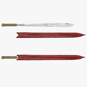 3D ida sword
