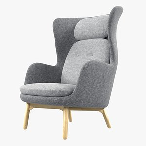3D model chair armchair hansen
