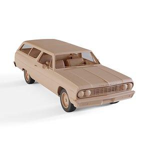 3D chevrolet chevelle wagon model