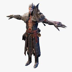 3D fantasy sorcerer necromancer