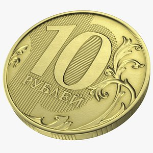 Russian 10 Rubles Coin model