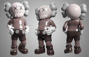 companion mono kaws 3D model