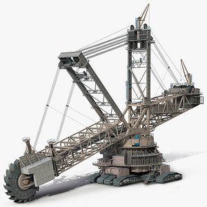 3D model mining multi bucket wheel