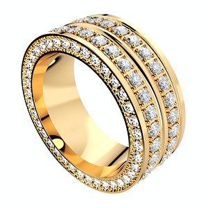 ring men women 9 mm 3D model