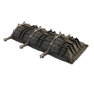 3D Pyramid Temple Wall 02 07