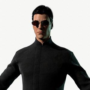 character matrix neo 3D model