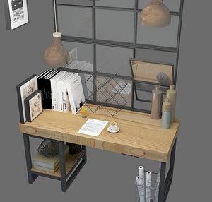3D desk work model