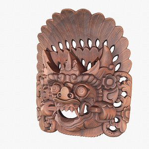 3D African Mask 03 hy poly 3D model