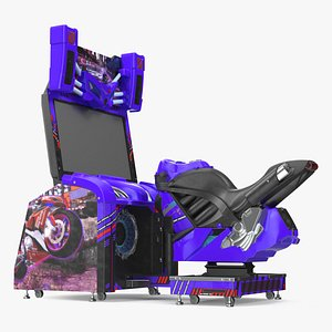 3D Motorcycle Racing Arcade Machine Off model