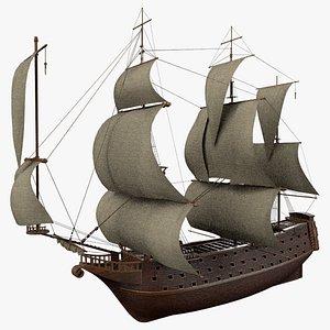 3D model Medieval Warship