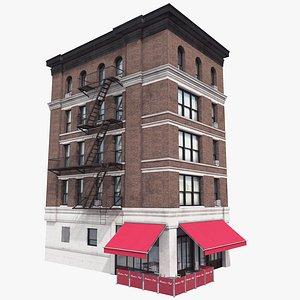 3D Manhattan Building 02, 8K PBR Textures model