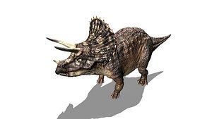 3D dinosaur triceratops animals model