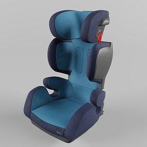 3D Recaro MAKO Children Car Seat Core Xenon Blue model