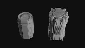 3D box sci fi model