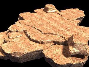 3D landscape nature rock
