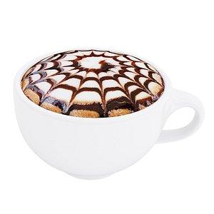 cappuccino cup 3D model