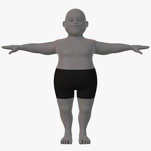 3D model base mesh man character