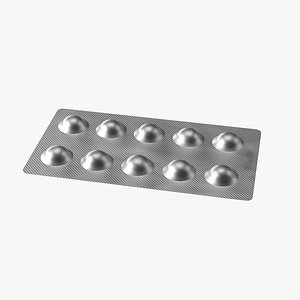 3D Blister Pack With Pills