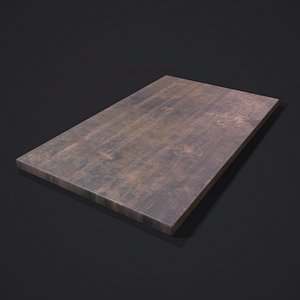3D model Wooden Display Board