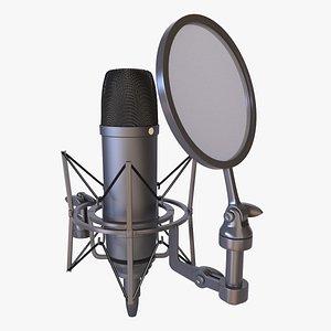 3D studio condenser microphone spider model