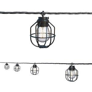 String Lights Edison Lamps 3D model