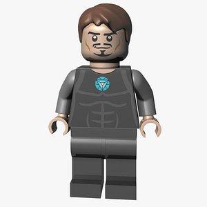 lego tony stark 3D model