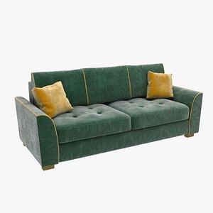 Green velvet sofa model