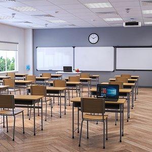 Classroom Interior Scene model