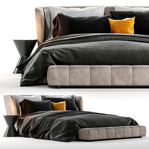 Minotti Reeves Bed 3D model