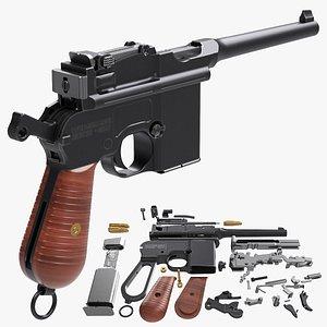 mauser pistol 3D model