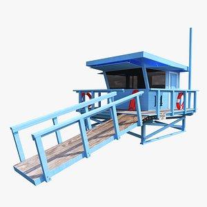 3D lifeguard house guard model