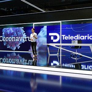 3D D Telediario News Studio model