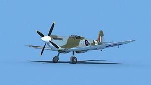 3D Supermarine Spitfire Mk IXb  V06