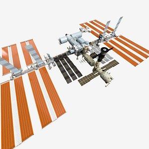 ISS International Space Station - Cinema 4D Octane PBR 3D model