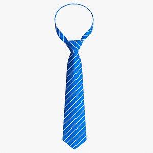 3D Classic necktie 02 blue