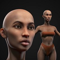 Black skinny woman body