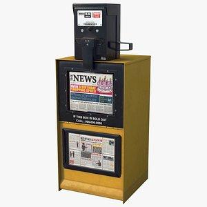 Newspaper Box Yellow HD 3D model