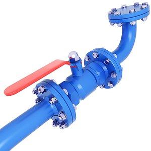 water gas oil 3D model