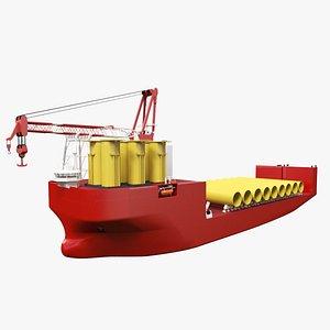 Offshore Heavy Transport Ship 3D model