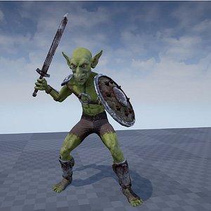 3D character creatures goblin model