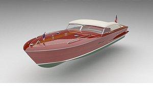 3D model boat ship speedboat