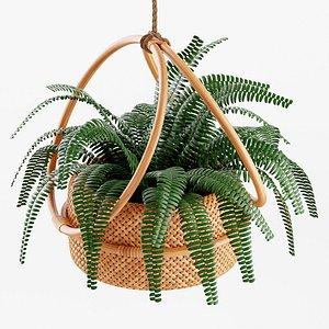 Margot 7 Hanging Planter 3D model