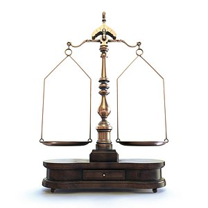 3D model Ornate Justice Scale