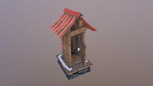 Toilet Hut 3D