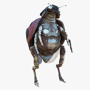 3D Lady Bug Cyborg