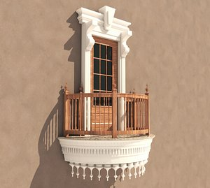 Balcony Windows 5 3D model