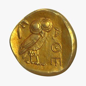 3D model Gold Ancient Coin