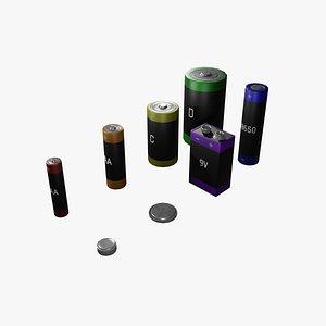 battery pbr coin 3D